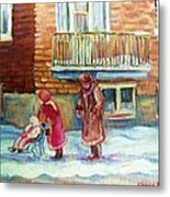 Montreal Winter Scenes Metal Print