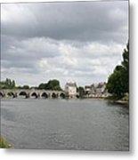 Montrichard Bridge Over Cher River Metal Print