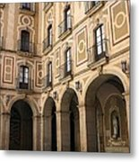 Montserrat Monastery Courtyard Metal Print