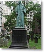 Monument John Watts Trinity Churchyard New York Metal Print