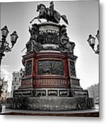 Monument To Russian Emperor Nicholas I In St . Petersburg . Russia Metal Print