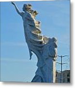 Monument To The Immigrants Statue 2 Metal Print