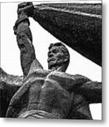 Monument To The People 0131 - Textured Pencil Metal Print