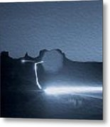 Monument Valley At Night 2 Metal Print