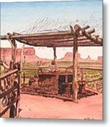 Monument Valley Overlook Metal Print