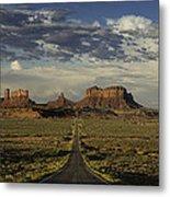 Monument Valley Panorama Metal Print