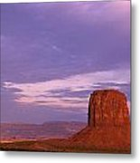 Monument Valley Red Rock Formations At Sunrise Metal Print