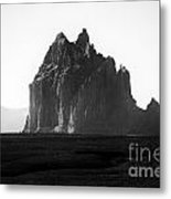 Monument Valley Region-arizona Black And White Metal Print