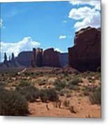 Monument Valley Scenic View Metal Print