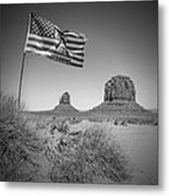 Monument Valley Usa Bw Metal Print