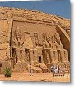 Monumental Abu Simbel Metal Print