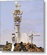 Monumento Al Campesino On Lanzarote Metal Print