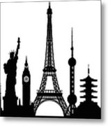 Monuments Buildings Are Complete And Metal Print