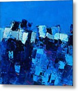 Mood In Blue Metal Print