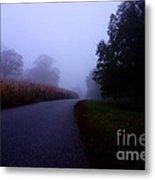 Moody Autumn Pathway Metal Print