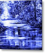Moody Blue Metal Print by Ann Marie Bone