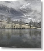 Moody Blue Metal Print by Cindy Rubin