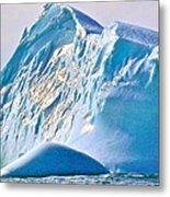 Moody Blues Iceberg Closeup In Saint Anthony Bay-newfoundland-canada Metal Print