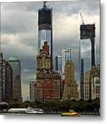 Moody City Metal Print