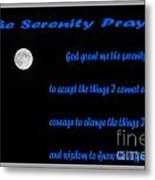 Moon - Serenity Prayer - Blue Metal Print