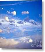 Moon And Clouds Metal Print