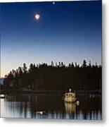 Moon And Venus Over Five Islands Metal Print by Benjamin Williamson