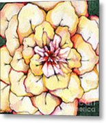 Moon Flower Out Of The Bloomers And Onto The Bloom Metal Print