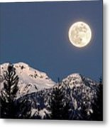 Moon Glow Whistler Canada Metal Print by Pierre Leclerc Photography