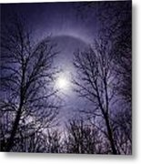 Moon Halo Metal Print