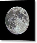 Moon Hdr Metal Print