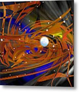 Moon In Leo - Abstract Metal Print