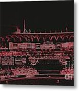 Moon In The Arches In Neon 2 Edited Metal Print