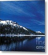 Moon - Lake Metal Print