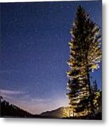 Moon Light Over Tenaya Lake Metal Print