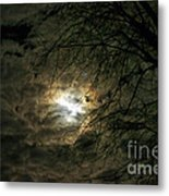 Moon Light With Clouds Metal Print
