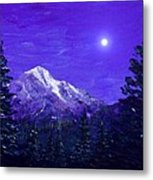 Moon Mountain Metal Print