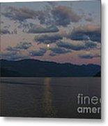 Moon On The Lake Metal Print