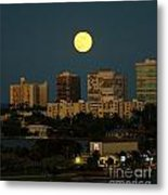 Moon Over Bal Harbour Metal Print