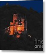 Moon Over Burg Katz Metal Print