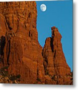 Moon Over Chicken Point Metal Print