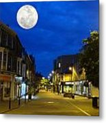 Moon Over Harrogate Uk Metal Print
