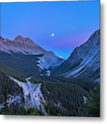 Moon Over Icefields Parkway Metal Print