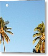 Moon Over Molokai Metal Print