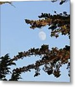 Moon Over Morro Bay Metal Print