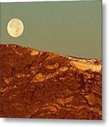 Moon Over Mount Ida Metal Print