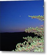 Moon Over Mountain Metal Print