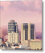 Moon Over Nashville Metal Print by Amy Tyler