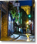 Moon Over Old City Of The York Metal Print
