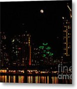 Moon Over San Diego Metal Print