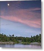 Moon Over The Bay Metal Print